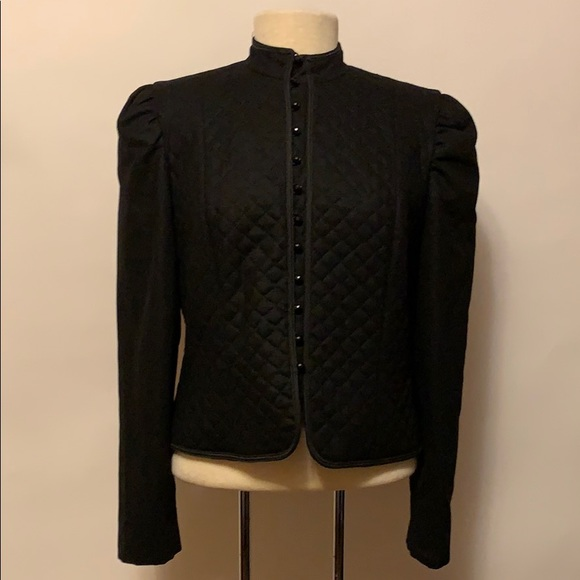 arthur Jackets & Blazers - Vintage 100% Wool Black Quilted Button Jacket